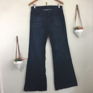 7 for all Mankind flare leg blue jeans